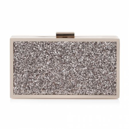 Rachel Simpson Quartz Glitter Box Clutch Bag