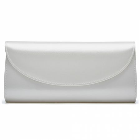 Rainbow Club Celina Dyeable Ivory Satin Wedding Clutch Bag