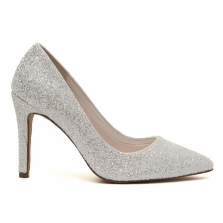 Rainbow Club Coco Ivory Snow Glitter Pointed Court Shoes
