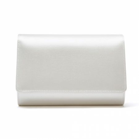 Rainbow Club Dafnee Dyeable Ivory Satin Wedding Clutch Bag