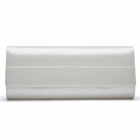 Rainbow Club Greta Dyeable Ivory Satin Wedding Clutch Bag