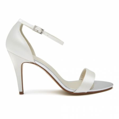 Rainbow Club Harley Dyeable Ivory Satin Strappy Sandals