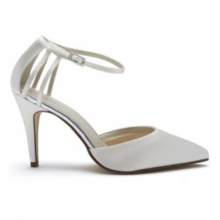 Rainbow Club Kennedy Dyeable Ivory Satin Two Part Court Shoes
