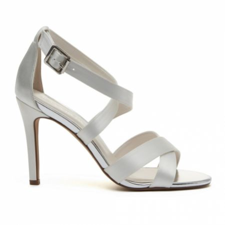 Rainbow Club Reese Dyeable Ivory Satin Strappy Sandals