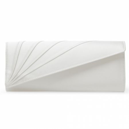 Rainbow Club Tess Dyeable Ivory Satin Wedding Clutch Bag