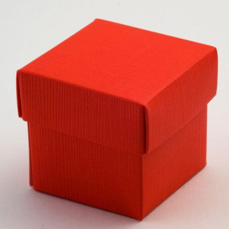 Red Silk Favour Box - Pack of 10