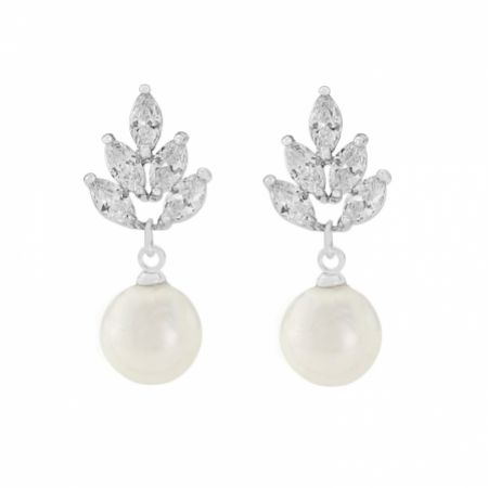 Vienna Vintage Pearl Drop Wedding Earrings