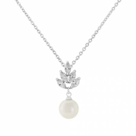 Vienna Vintage Pearl Drop Wedding Necklace