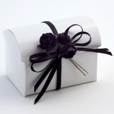 White Glossy Cofanetto Favour Box - Pack of 10