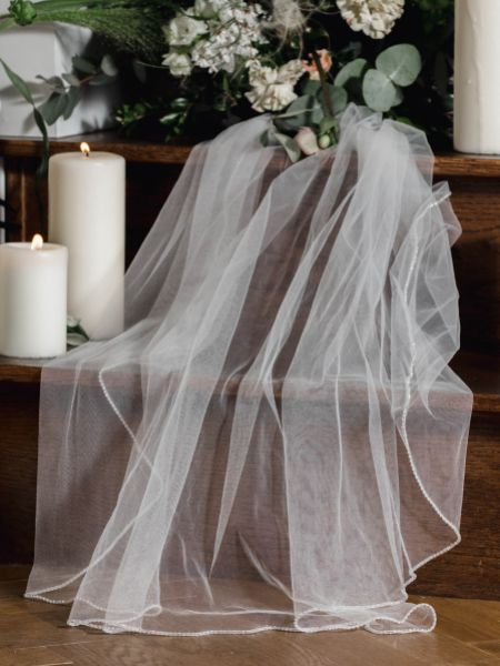 Linzi Jay Diamante Edge Bridal Veil LA930