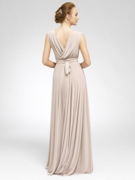 Only Way Crossover Maxi Wrap Bridesmaid Dress