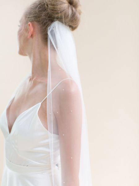 Rainbow Club Celeste Chapel Length Veil with Diamante Embellished Train