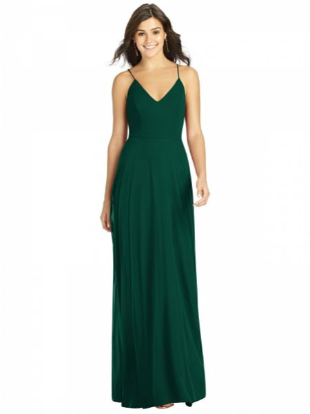 Thread by Dessy Criss Cross Back A-line Maxi Bridesmaid Dress TH007