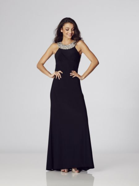 Tiffanys Illusion Prom Chicago Jersey Backless Prom Dress