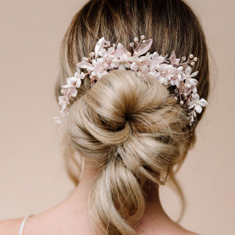 Arianna Daydream Floral Half Halo Hair Comb