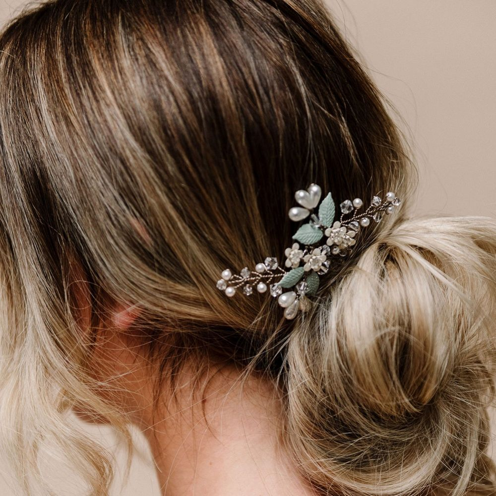 Arianna Forget Me Not Floral Mini Combs