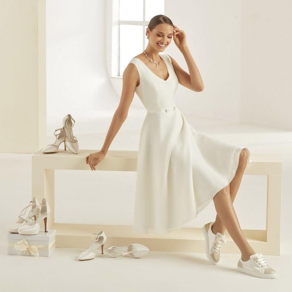 Avalia Robin Ivory Satin & Silver Glitter Wedding Trainers