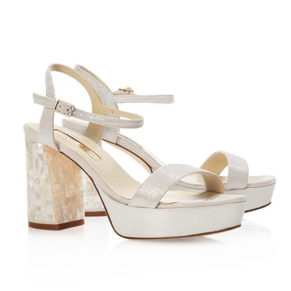 Freya Rose Gigi Ivory Chunky Heel Sandals