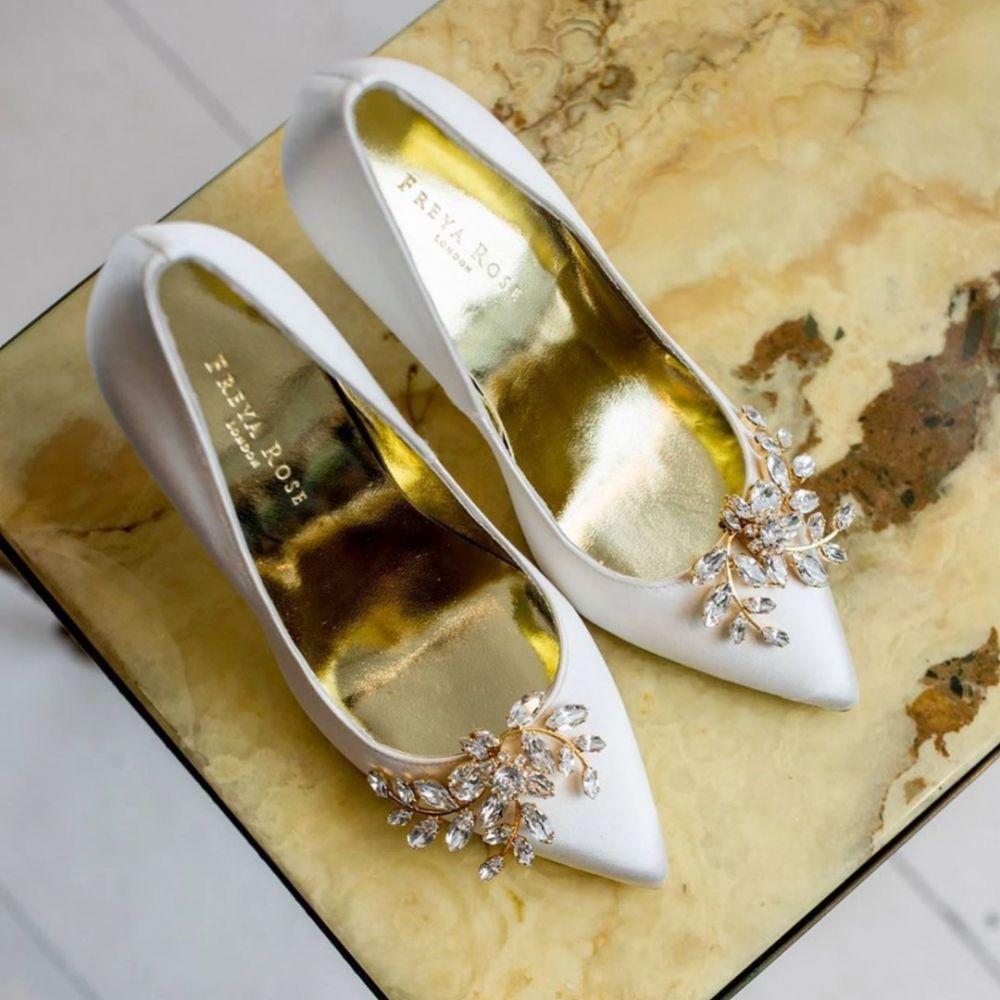 Swarovski Crystal Embellished Wedding Shoe Clips