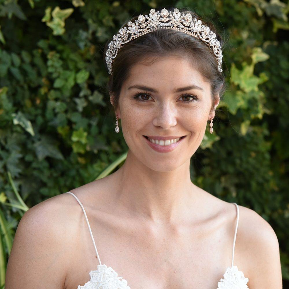Ivory And Co Princess Aria Rose Gold Crystal Embellished Tiara