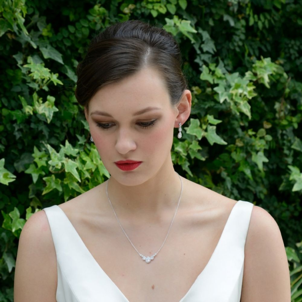 Ivory And Co Sorbonne Crystal Wedding Necklace