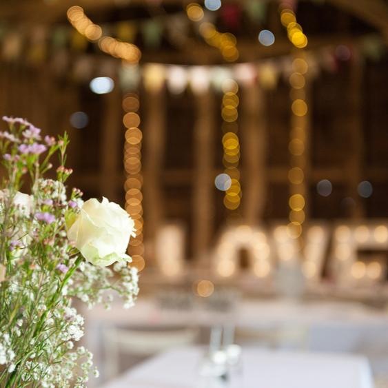 Rustic Barn Wedding Scene