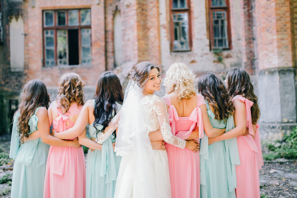 Same Style, Different Colours Bridesmaid Dresses
