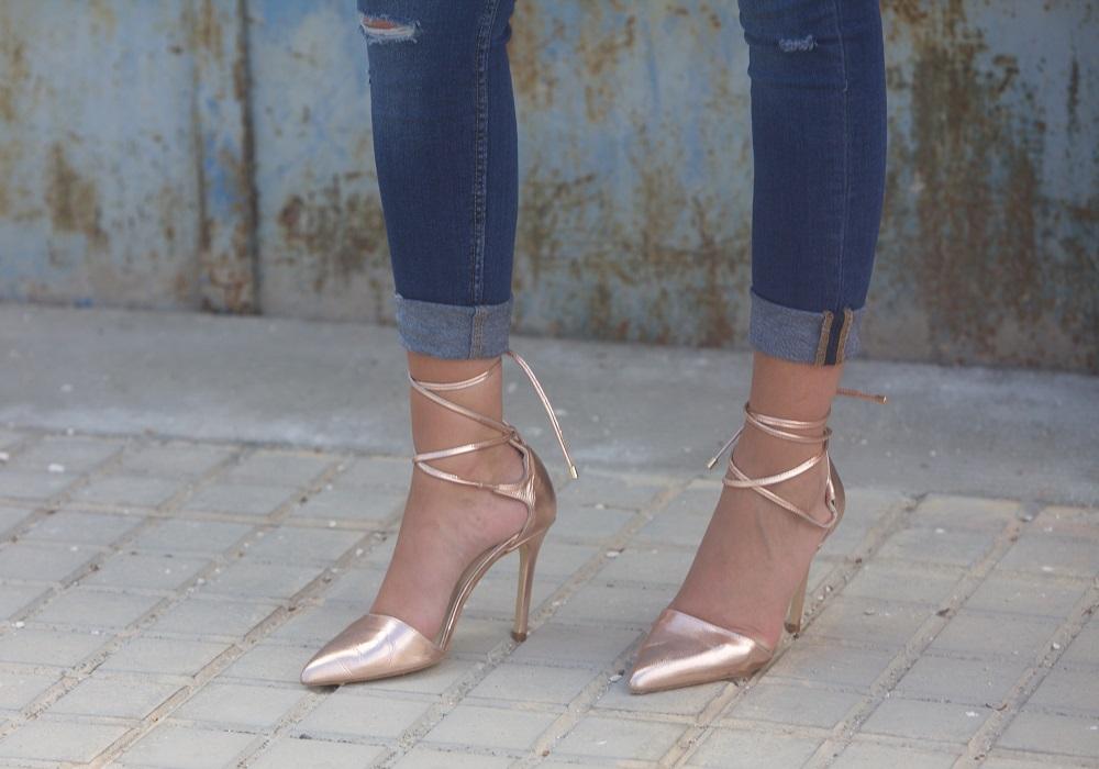 Freya Rose Pecina Rose Gold Leather Shoes