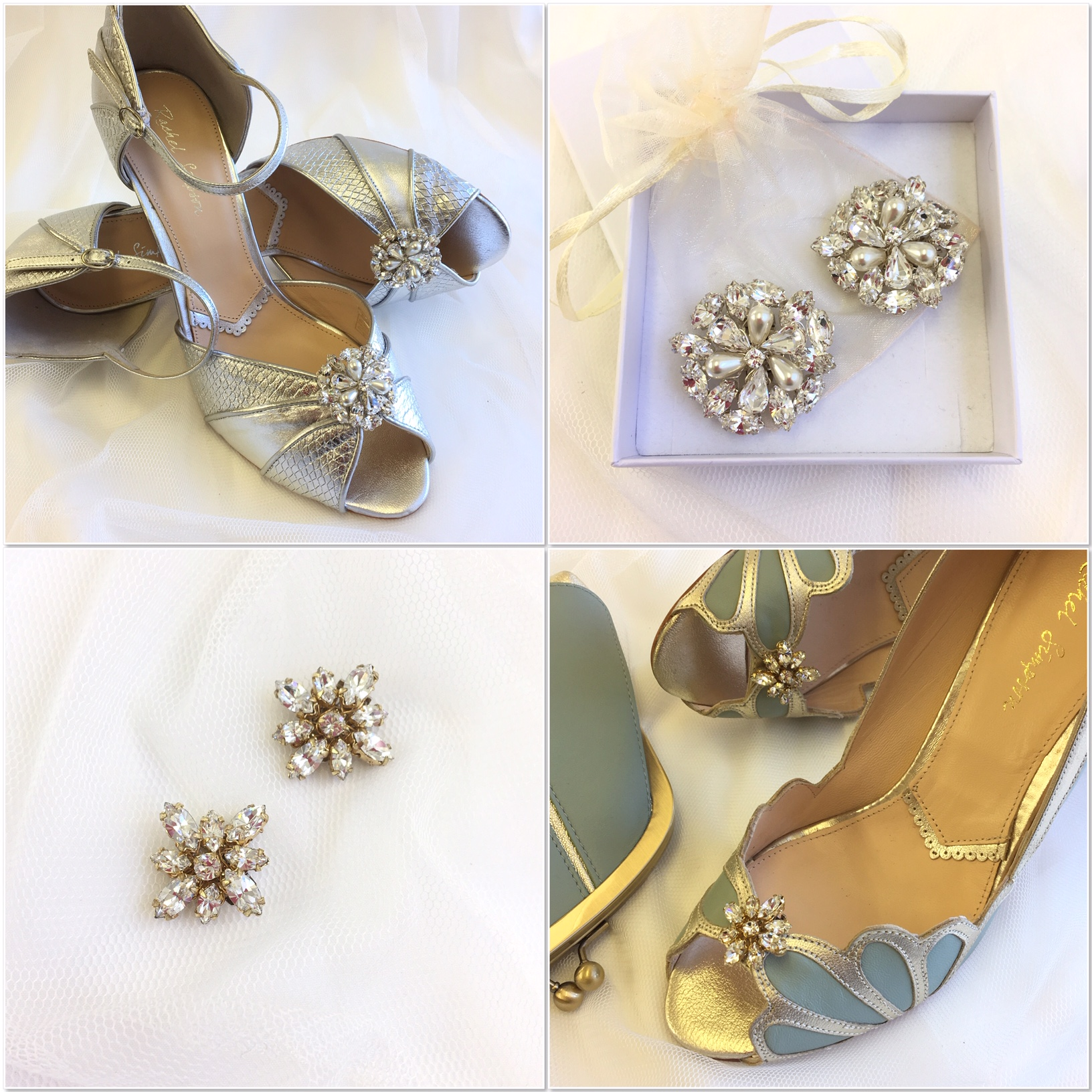 Gold star shoe clips