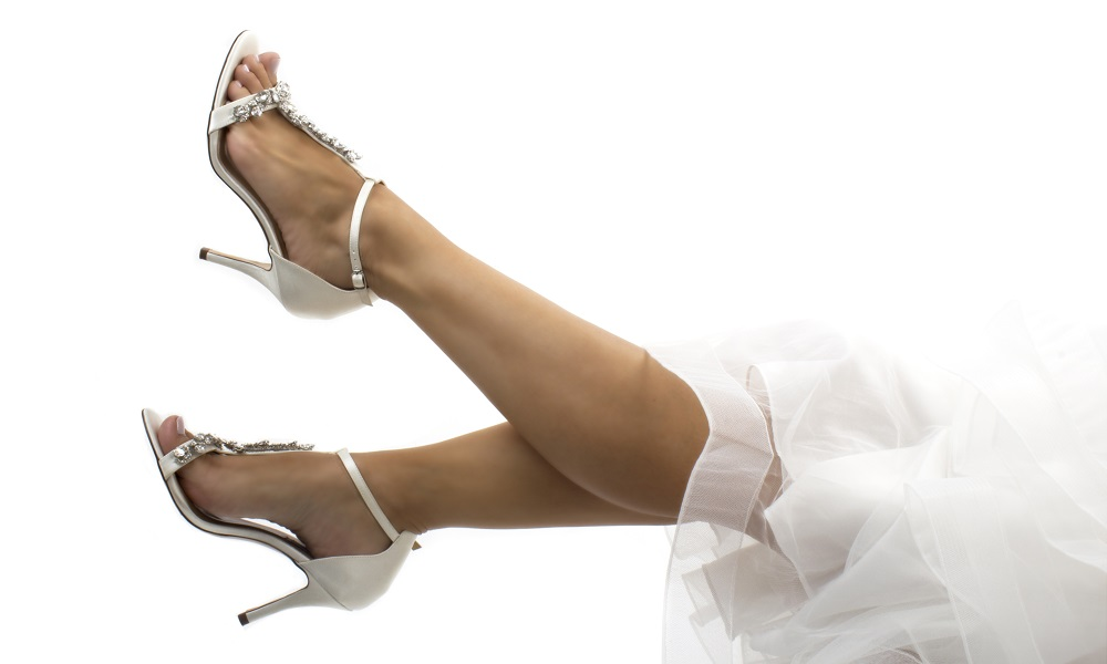 crystal t-bar shoes