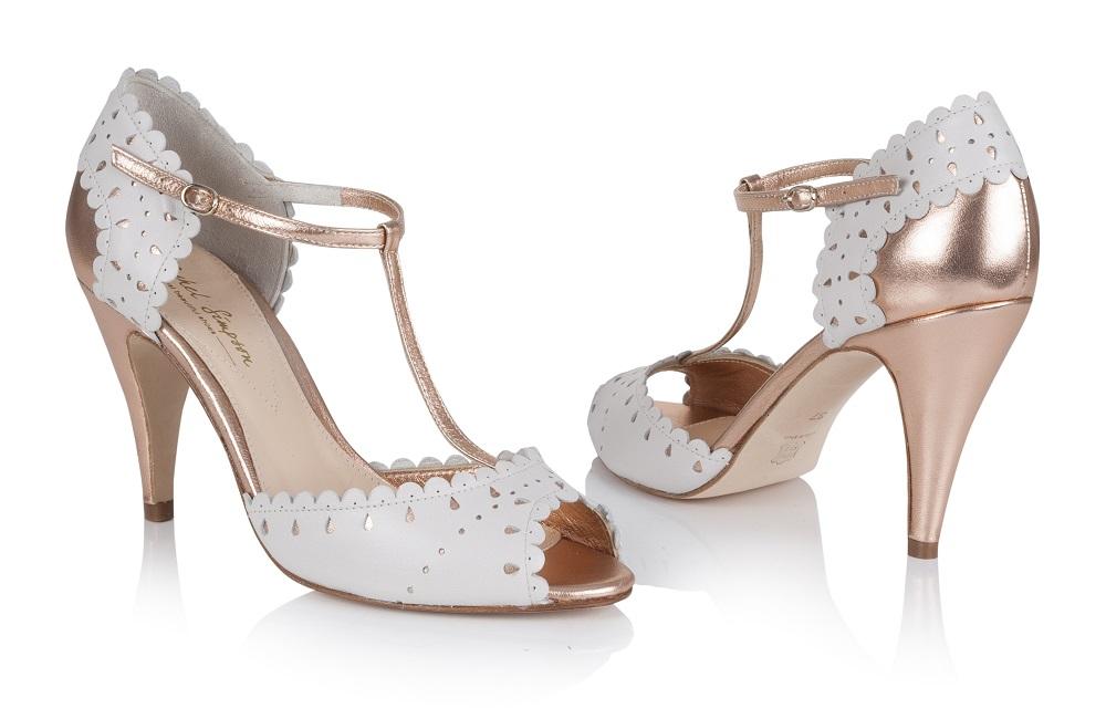 Monique Rose Gold T-Bar Shoes