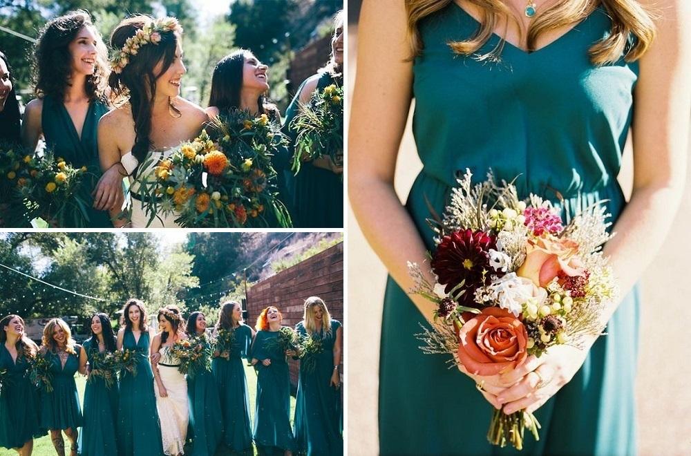 teal-bridesmaid-dresses-autumn-wedding