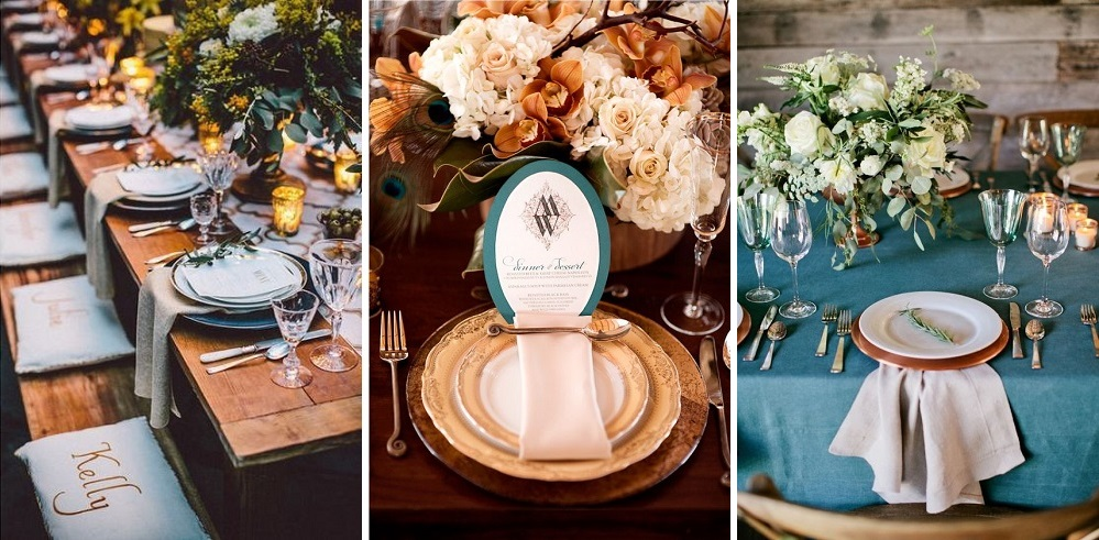 teal-and-copper-wedding-table-ideas