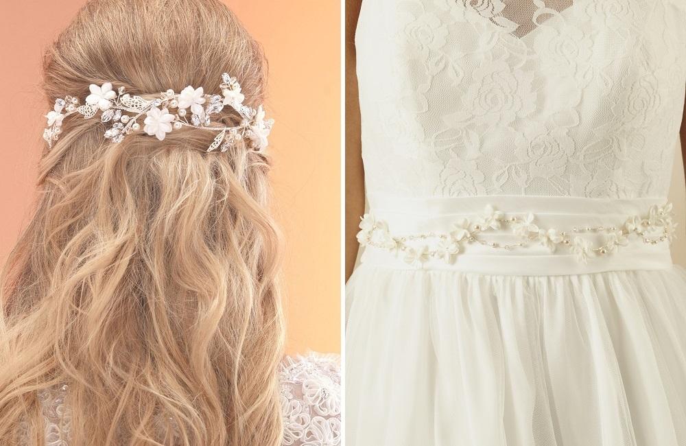 ar518 hair vine and matching dress belt