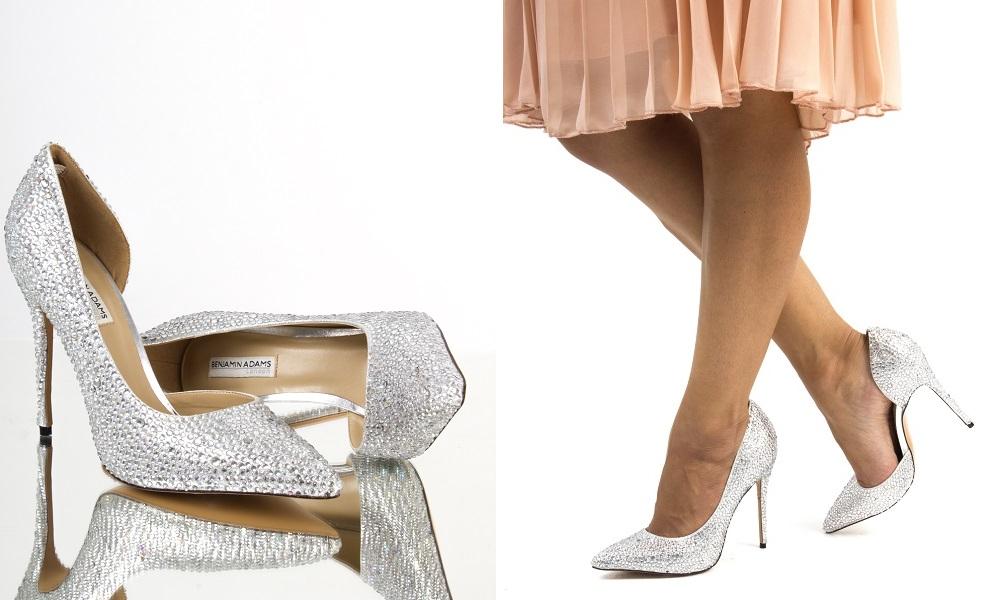 crystals embellished court shoes