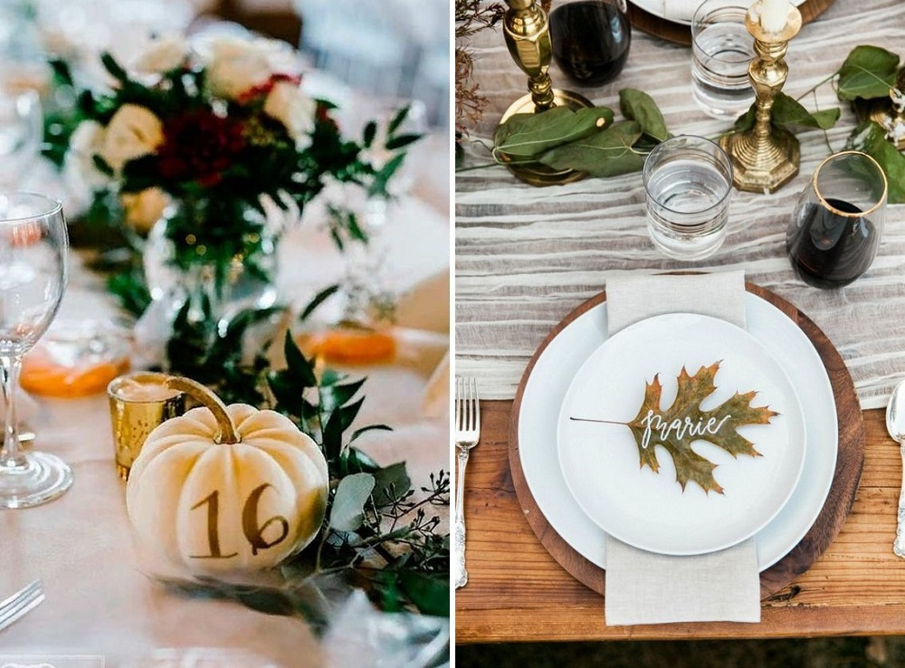 leaf-place-card-and-pumpkin
