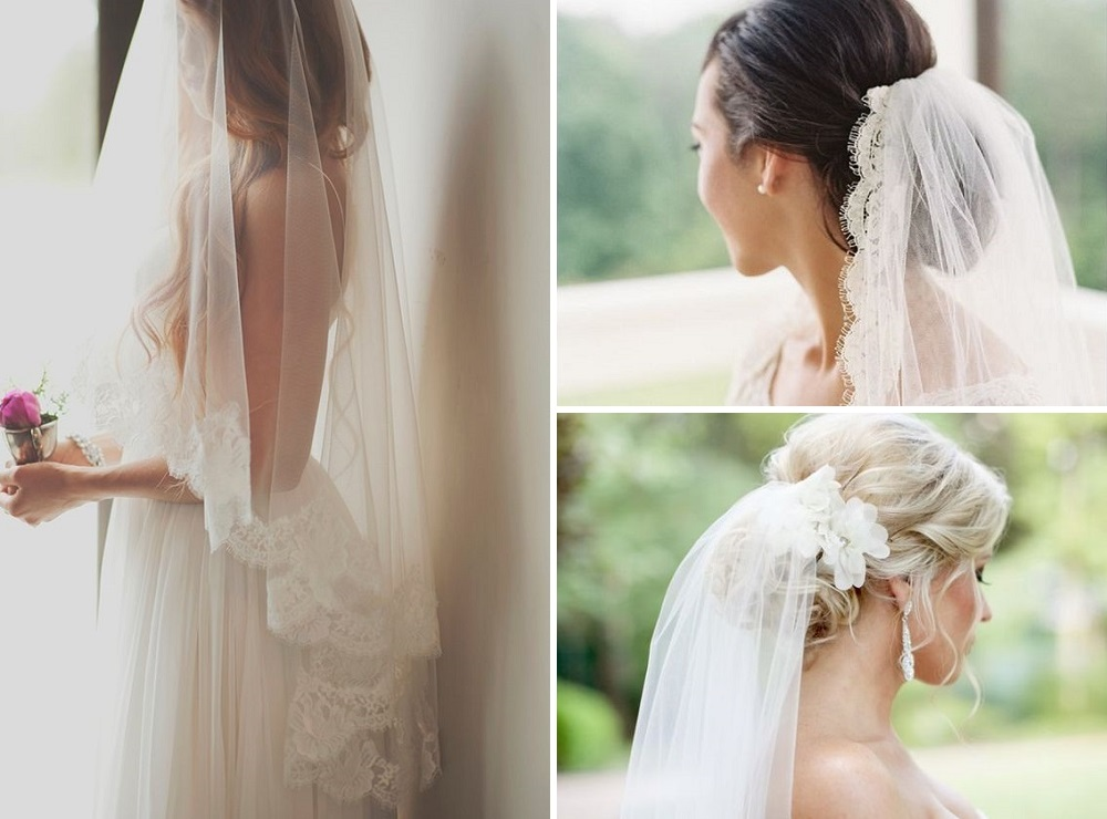 single tier and two tier wedding veils